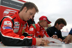 Henri Karjalainen during the F2 driver autograph session
