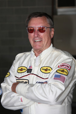 Three-time Indianapolis 500 winner Johnny Rutherford in his 1980 driving suit