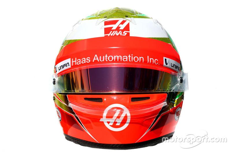 El casco de Esteban Gutiérrez, Haas F1 Team