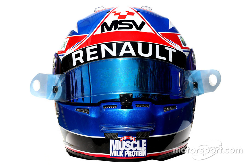 El casco de Jolyon Palmer, Renault Sport F1 Team