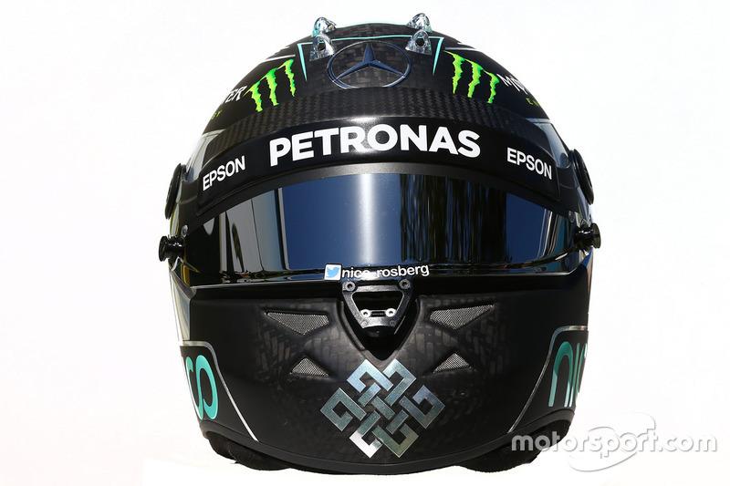 El casco de Nico Rosberg, Mercedes AMG F1