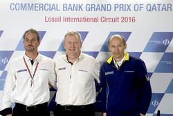 Piero Taramasso, Manager de Michelin Motorsport deux roues; Pascal Couasnon, Directeur de Michelin Motorsport; Nicolas Goubert, Directeur Technique Michelin Motorsport