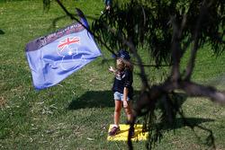 Un giovane tifoso della Red Bull Racing