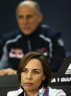 Клэр Уильямс, руководитель Williams на пресс-конференции FIA