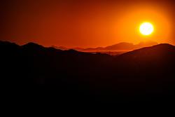 The sun sets on the Phoenix desert