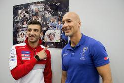Andrea Iannone, Ducati Team con l'astronauta Luca Parmitano
