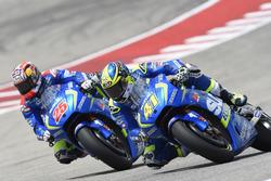 Maverick Vinales, Team Suzuki Ecstar MotoGP; Aleix Espargaro, Team Suzuki Ecstar MotoGP