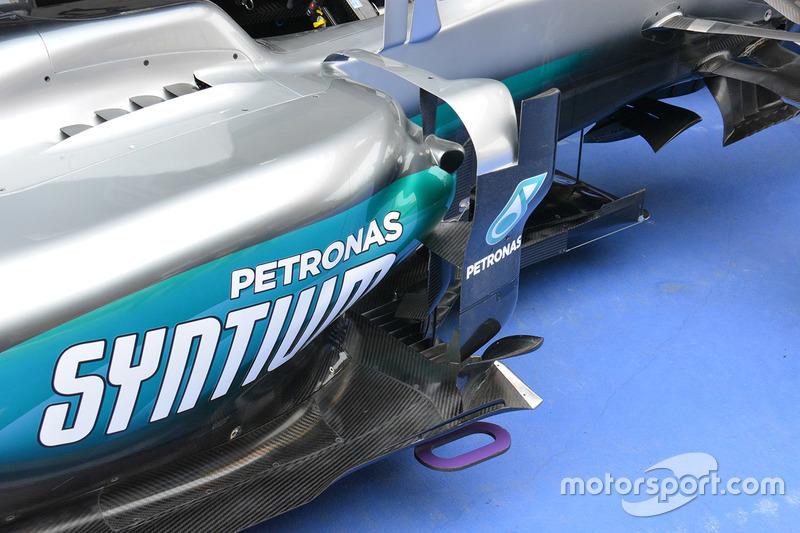 Mercedes AMG F1 Team W07, il deflettore