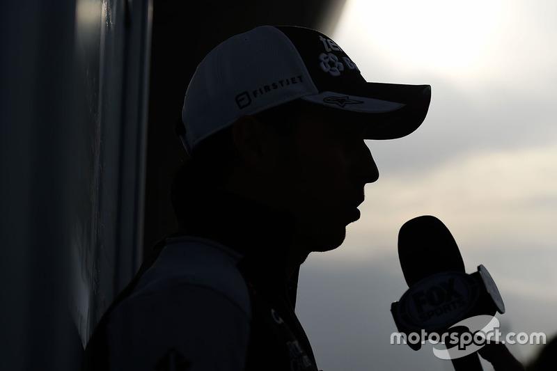 Sergio Pérez, Sahara Force India F1 con los medios de comunicación