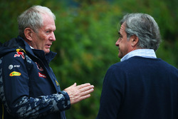 Dr Helmut Marko, Red Bull Motorsport Consultant with Carlos Sainz