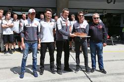 Romain Grosjean, Haas F1 Team celebrates his birthday with the team