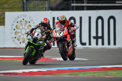 Jonathan Rea, Kawasaki Racing Team et Chaz Davies, Aruba.it Racing - Ducati Team