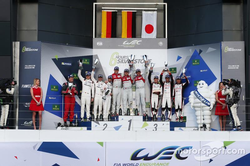 Marc Lieb, Romain Dumas, Neel Jani, #02 da Porsche herdou a vitória