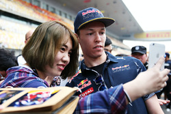 Daniil Kvyat, Red Bull Racing with fans