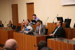 Raoul Fontana, Alex Fontana, Marco Borradori, municipio di Lugano