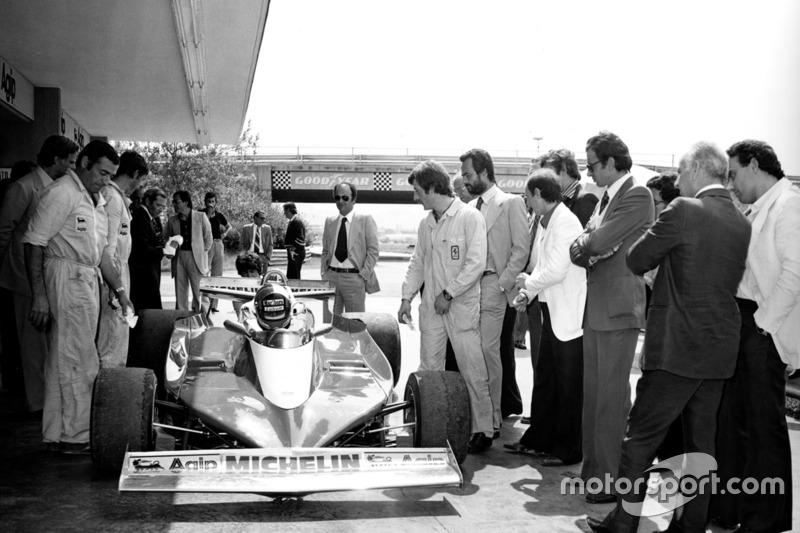 Eerste test met Ferrari 312 T3