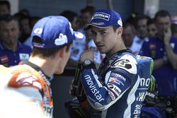 Segundo, Jorge Lorenzo, Yamaha Factory Racing y tercero Marc Márquez, Repsol Honda Team en el parc ferme