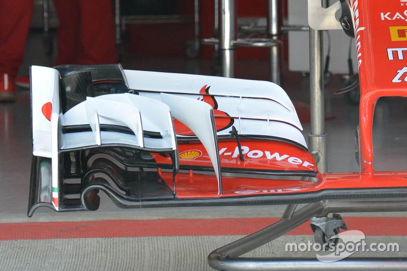 Ferrari SF16-H, la nuova ala anteriore