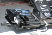 Détails du nouvel aileron avant de la McLaren MP4-31