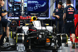 The Red Bull Racing RB12 of Daniel Ricciardo with the Aero Screen