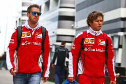 Sebastian Vettel, Ferrari with with Antti Kontsas, Personal Trainer
