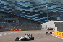 Felipe Massa, Williams leads team mate Valtteri Bottas, Williams FW38