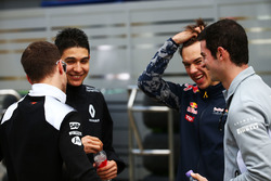 Stoffel Vandoorne, McLaren Test and Reserve Driver, Esteban Ocon, Renault Sport F1 Team Test Driver, Pierre Gasly, Red Bull Racing Third Driver and Alexander Rossi, Manor Racing Rerserve Driver