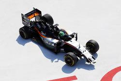 Nico Hulkenberg, Sahara Force India F1 VJM09 crash at the start