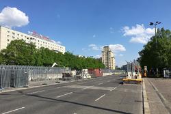 Streckenaufbau Berlin ePrix