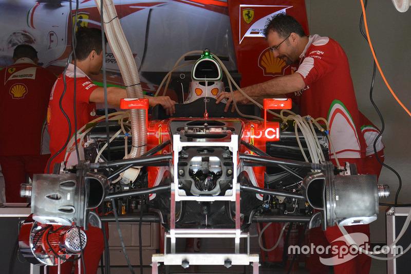 Ferrari SF16-H voorkant detail