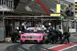 Pit stop for Susie Stoddart, Persson Motorsport AMG Mercedes C-Klasse