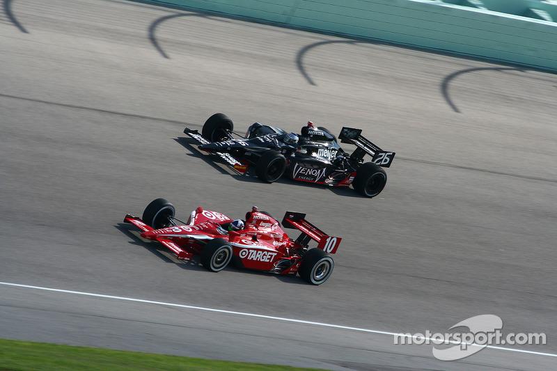 Dario Franchitti, Chip Ganassi Racing, Marco Andretti, Andretti Green Racing