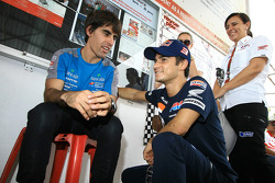 Go-kart event: Dani Pedrosa with Julian Simone