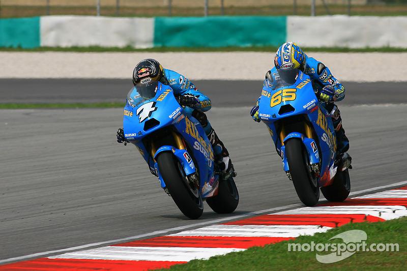 Chris Vermeulen, Rizla Suzuki MotoGP y Loris Capirossi, Rizla Suzuki MotoGP