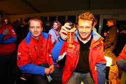 Prize giving party: #56 CRS Racing Ferrari F430: Tim Mullen and Andrew Kirkaldy