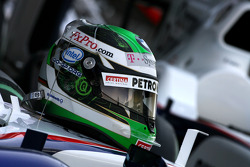 Helmet of Nick Heidfeld, BMW Sauber F1 Team
