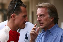 Michael Schumacher, Test Driver, Scuderia Ferrari and Luca di Montezemolo, Scuderia Ferrari, FIAT Chairman and President of Ferrari