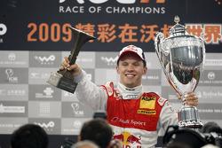 Podium: Race of Champions winner Mattias Ekström
