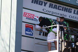 IZOD signage is placed at the Indianapolis Motor Speedway