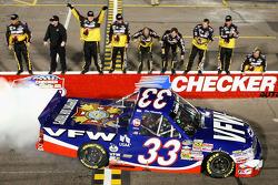 NASCAR Camping World Truck Series 2009 champion Ron Hornaday celebrates
