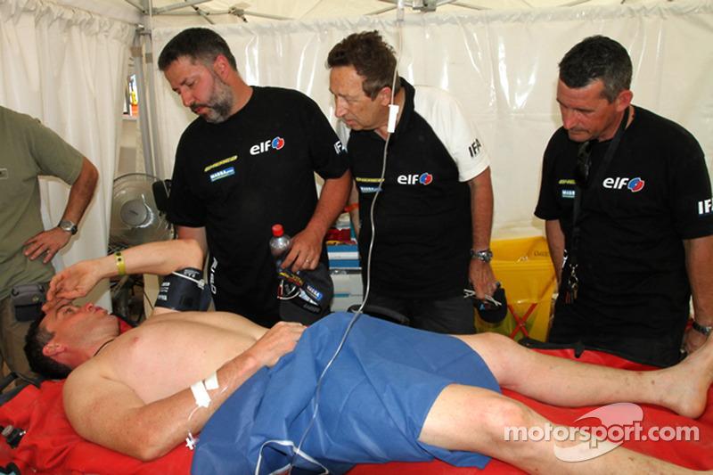 David Casteu abandonne le Dakar à cause d'une jambe cassée