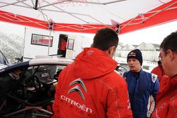 Kimi Raikkonen tests the Citroën C4 WRC at Citroën's Satory workshops in Versailles