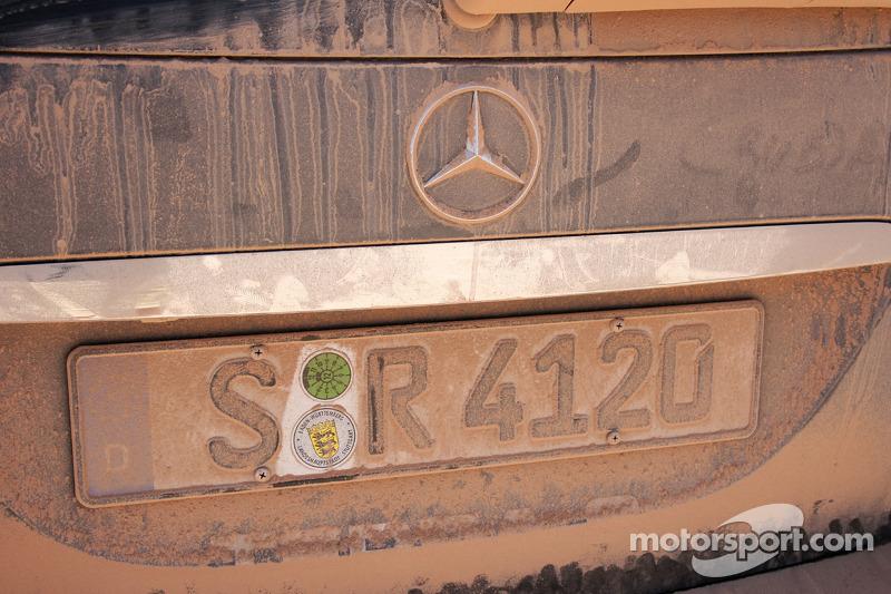 Poussière sur la #940 Mercedes-Benz R-Class de presse