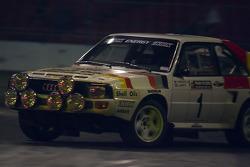 H Mikkola demonsttrates a group B rally car