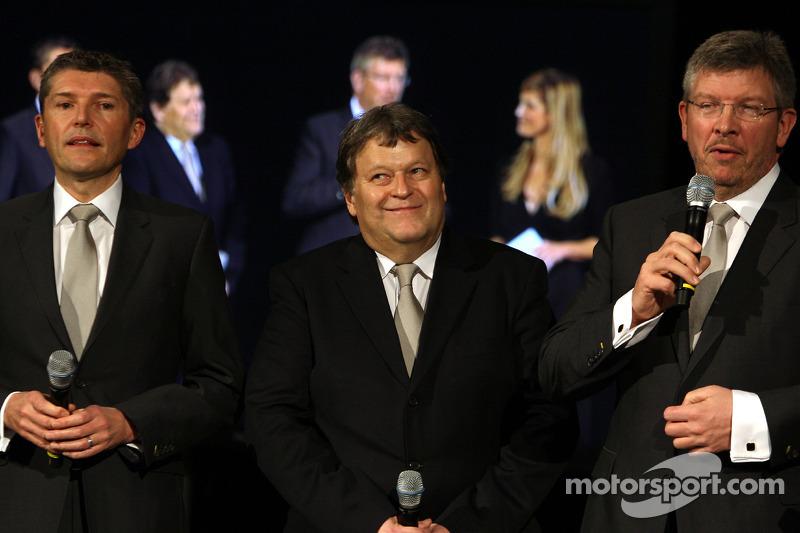 Nick Fry, Norbert Haug et Ross Brawn