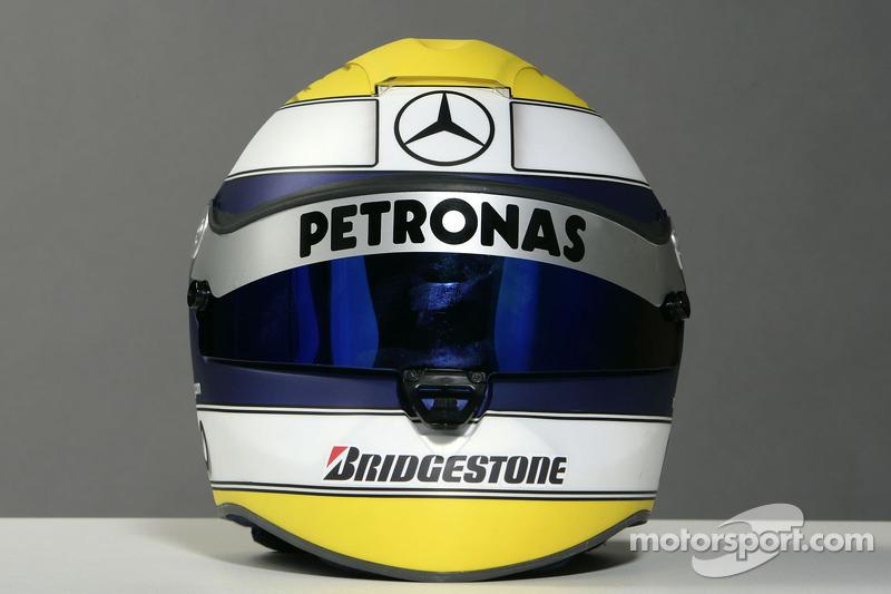 Casco de Nico Rosberg