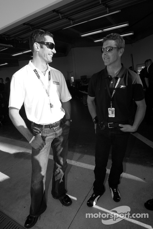 Max Papis en Scott Pruett