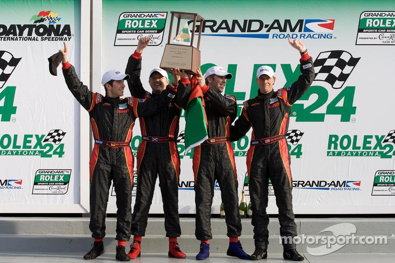 DP podium: klasse en overall winnaars Joao Barbosa, Terry Borcheller, Ryan Dalziel, Mike Rockenfelle