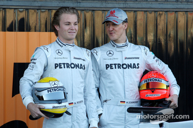 Nico Rosberg, Mercedes GP, Michael Schumacher, Mercedes GP