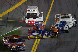Kurt Busch, Penske Racing Dodge after his crash